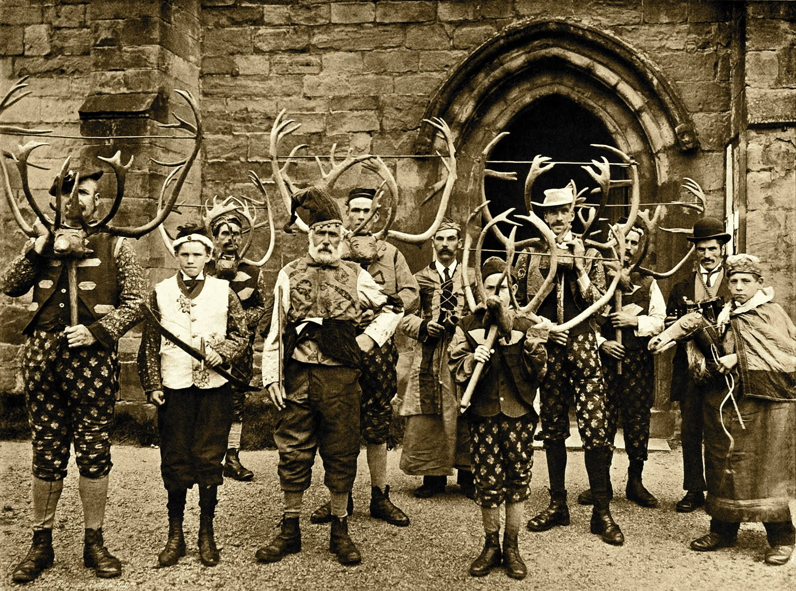 Winter solstice abbots bromley horn dance grapewrath for The bromley